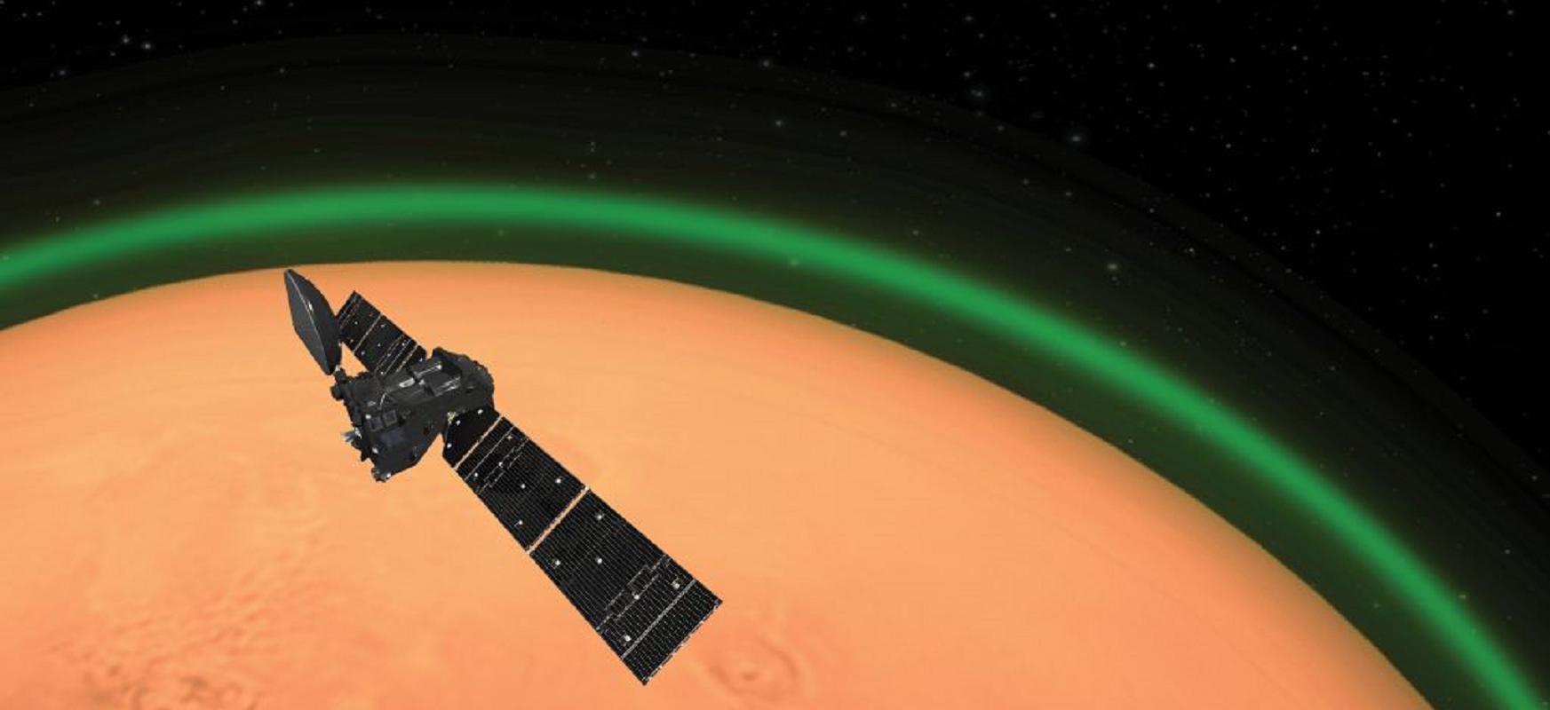 Hauxe da Lurretik kanpo antzeman den lehen dirdira hori.  Marte gutunazal berde berezia du