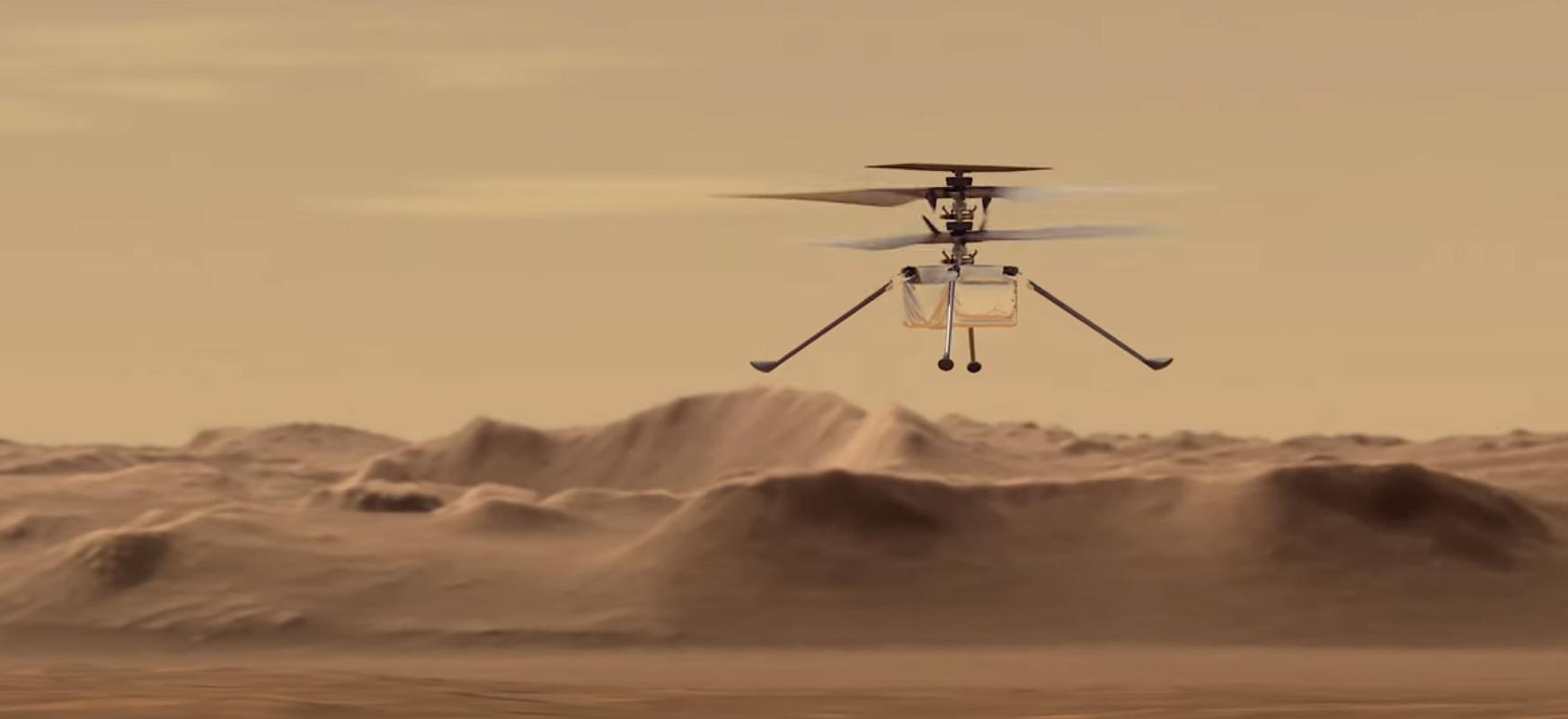 Helikoptero batek Martera hegan egingo du aste gutxi barru.  Ingenuitatea aireratzeko prest
