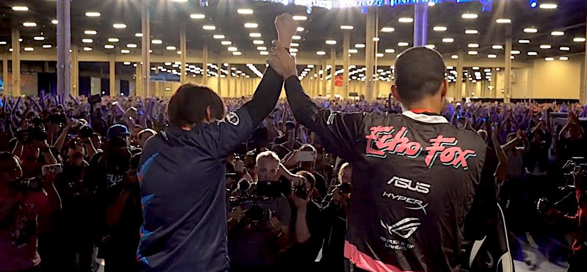 Horrela munduko borroka onena da.  Finalak Mortal Kombat, Dragon Ball FighterZ eta Tekken taldeetan 2019ko EVOan