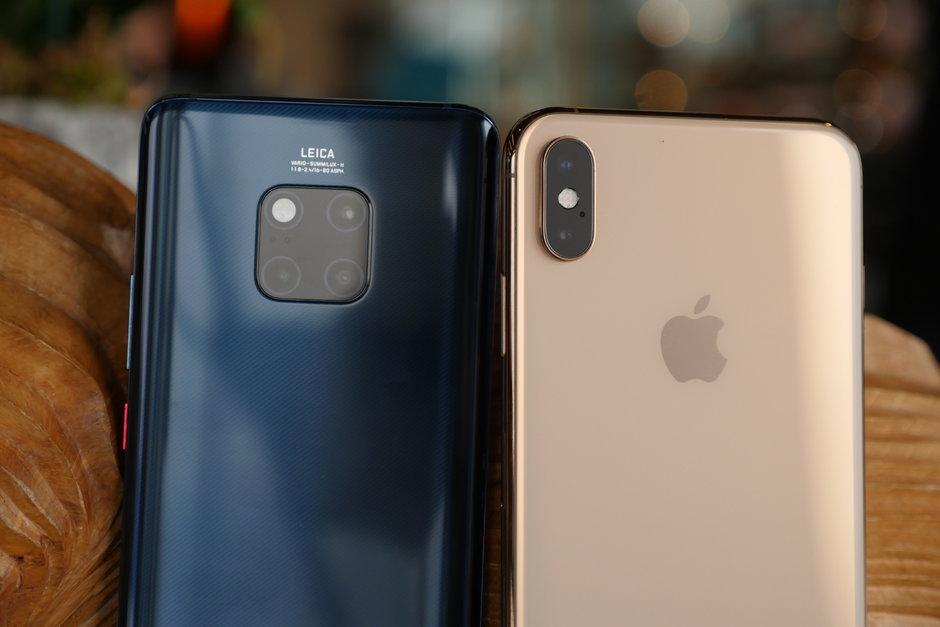 Huawei Mate 20 Pro eta iPhone XS Max kameraren konparazioa
