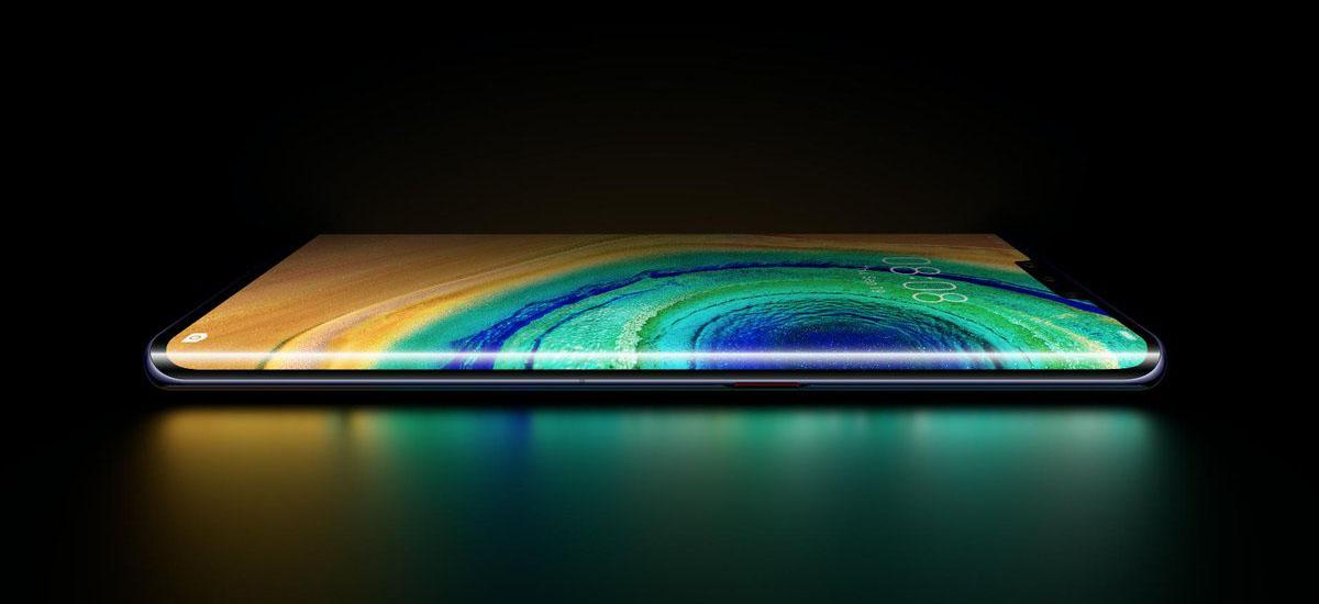 Huawei Mate 30 Pro erakutsi zuen.  Champagneko kortxoa agertu zen Samsungen egoitzan