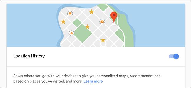 Kokapenen historia desgaitzeak ez du Google-k zure kokapena jarraitzea 1