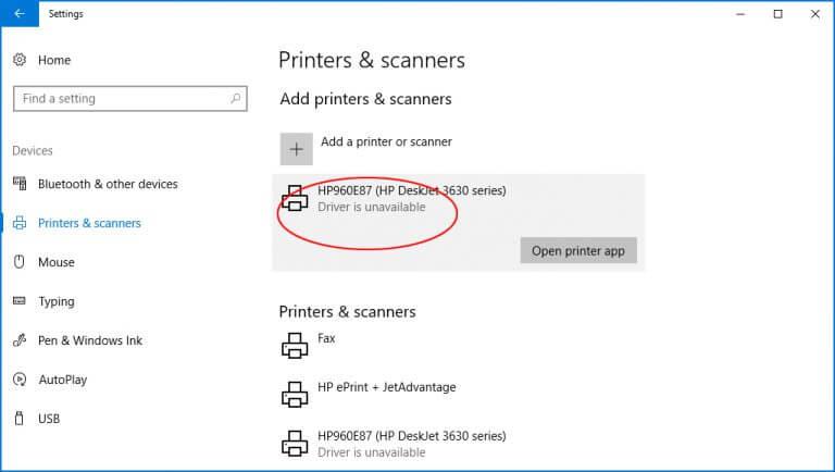Konpondu: inprimagailuaren kontrolatzailea ez dago sistema eragilean eskuragarri Windows 10