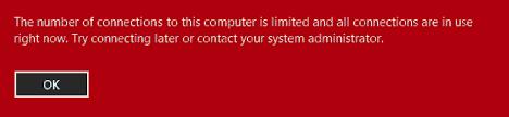 Konpondu: ordenagailu honekin konexio kopurua mugatua sistema eragilean Windows 10