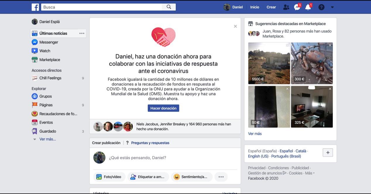 Kontuak kontu Facebook albiste faltsuak erori gabe koronavirusari buruz informatuta egoteko 1