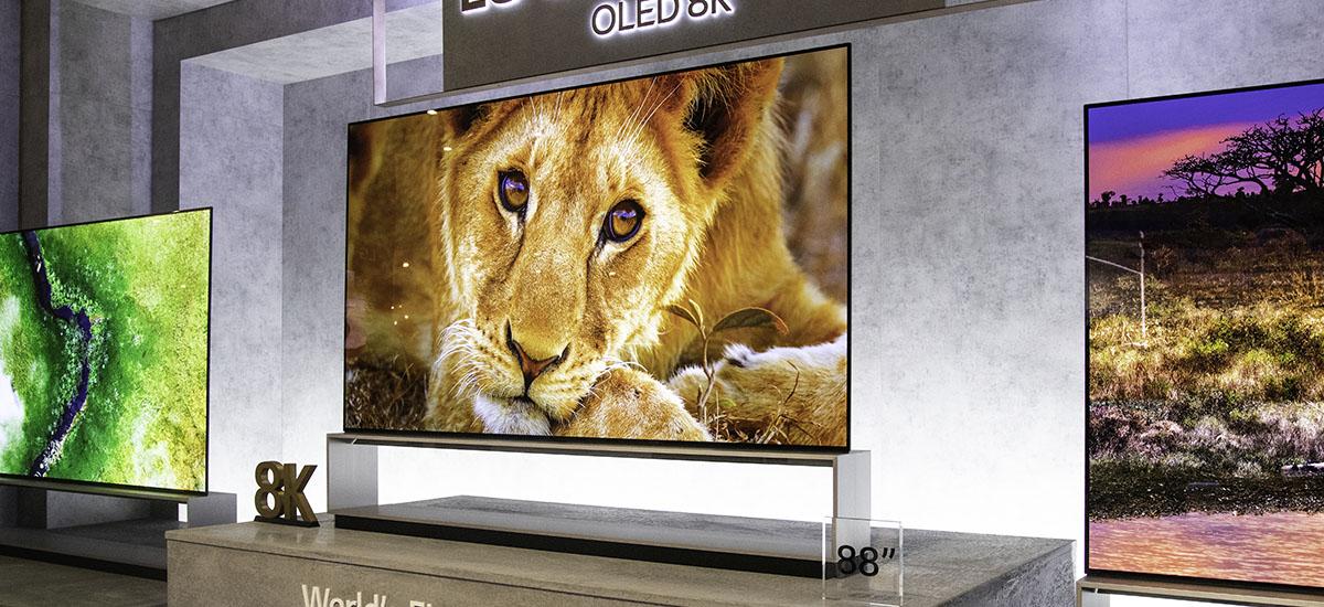 """Lehen """"benetako 8K telebistak"""" ez dira datorren urtera arte izango.  LGren eskaintzan debutatuko dute"""