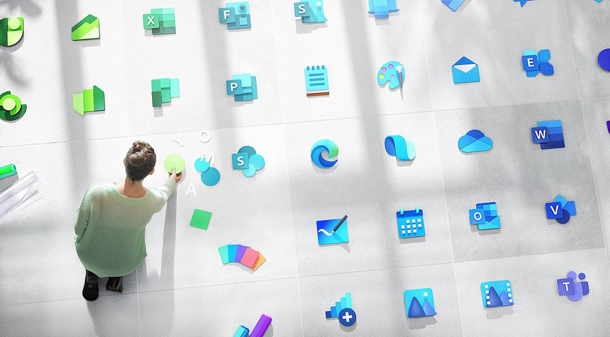 Lehen zortedunek dagoeneko ikono berriak dituzte Windows 10-en