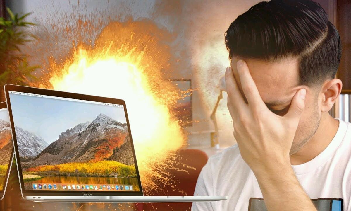 MacBook Pro bat-batean sua hartzen hasi zen!