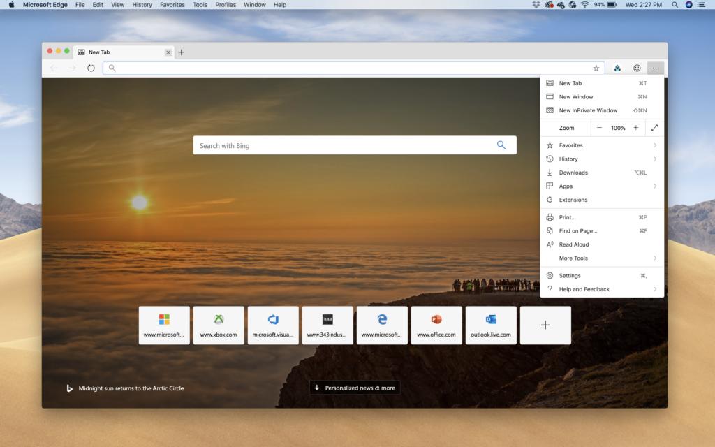macOS için Microsoft Edge