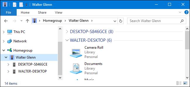 Microsoft-ek HomeGroups-tik kendu egin ditu Windows 10 1