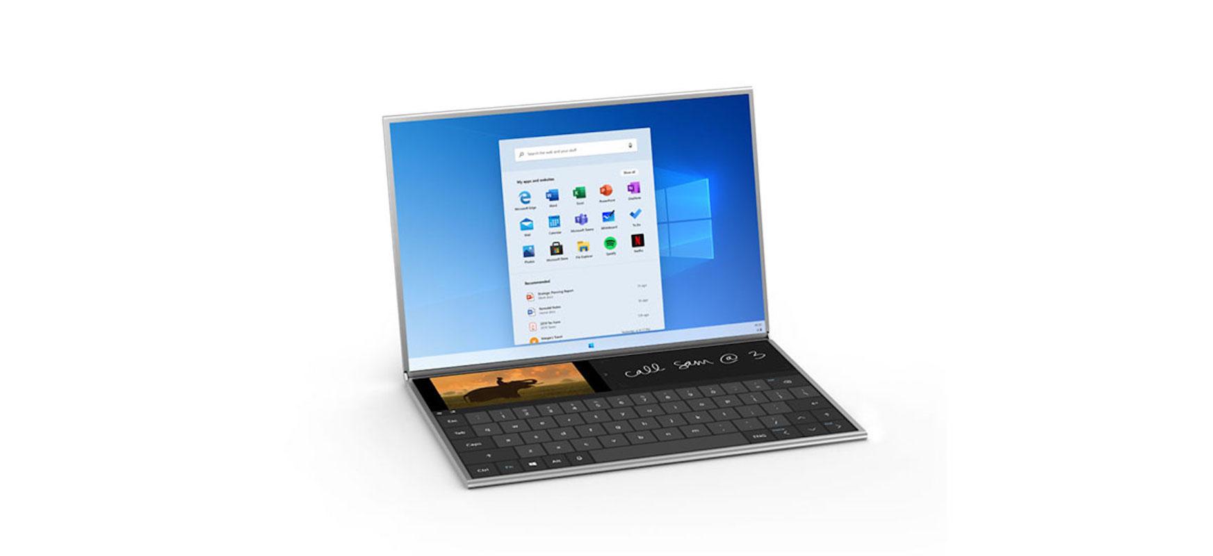 Microsoft-ek Surface Neo ezkutatzen du bi pantaila tiradera batean. Windows 10X garrantzitsuagoa da