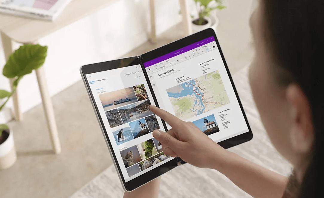 Microsoftek Surface Duo aplikazioetarako behatzak hazten ditu