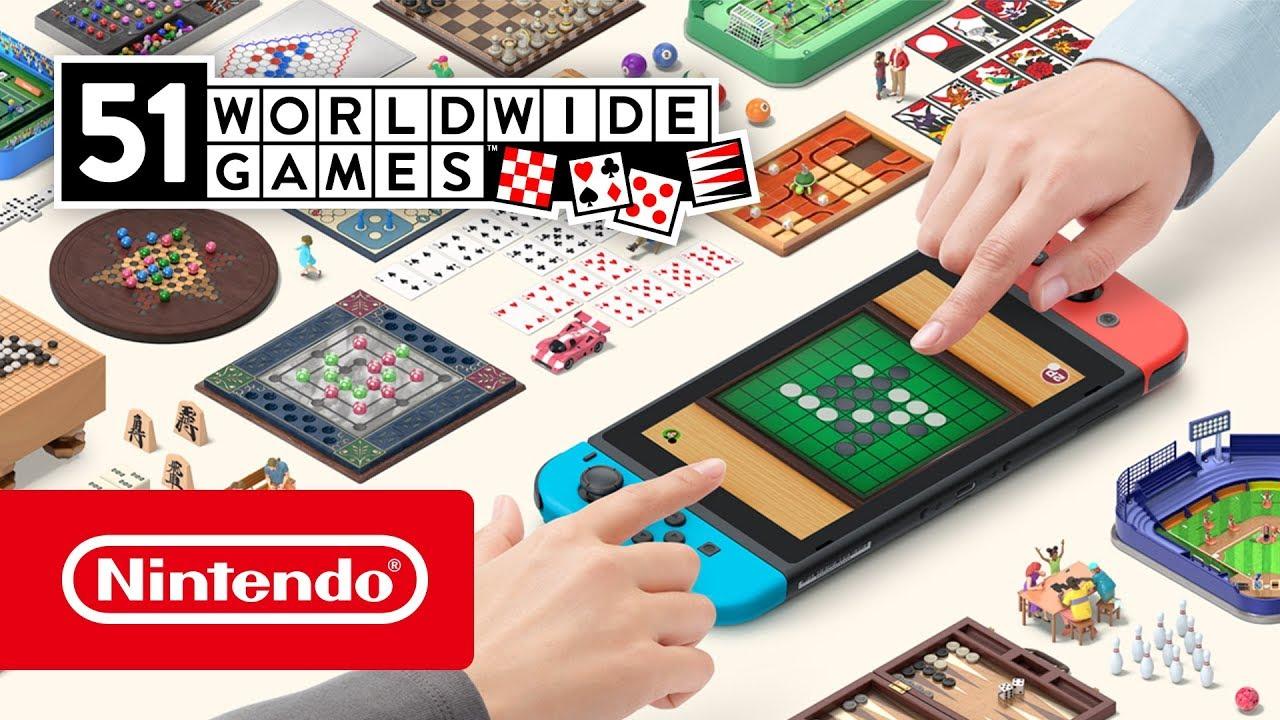 Mundu osoko 51 joko, laster joko duten backgammon barne 51 jokoekin Nintendo SwitchEtortzen da!