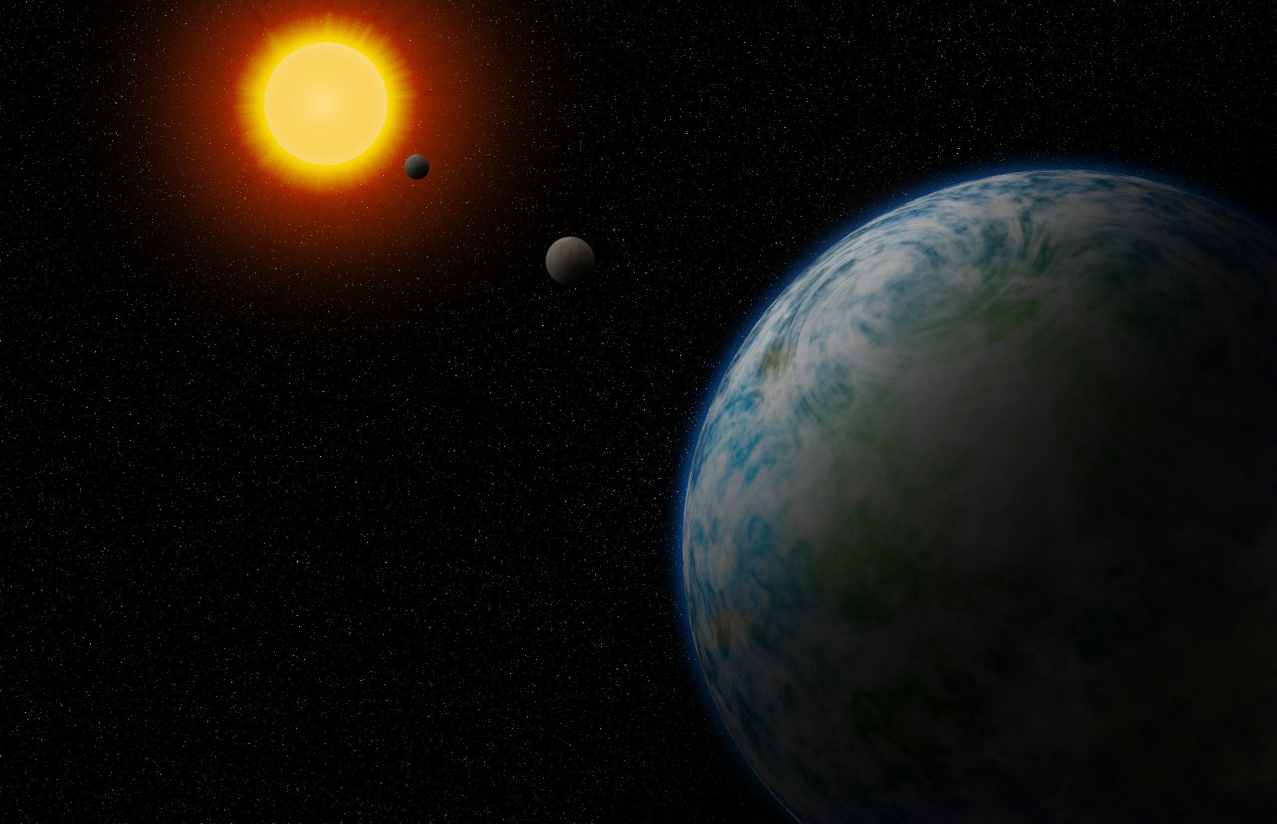 Neptuno freskoa eta bizitzan lagun daitezkeen bi planeta aurkitu dira.  Lurraren antzekoak dira