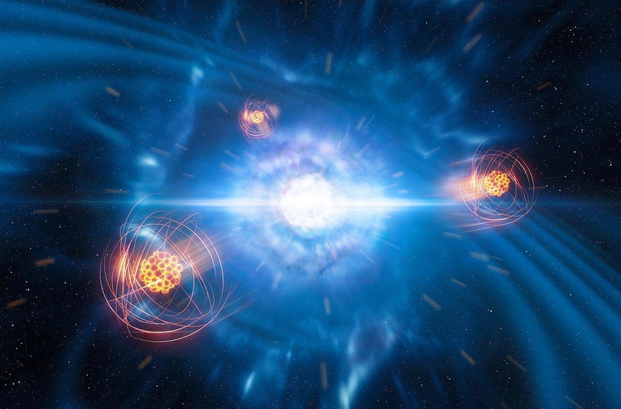 Neutroien izarrak talka egitean sortutako lehen elementu astuna identifikatu ahal izan genuen