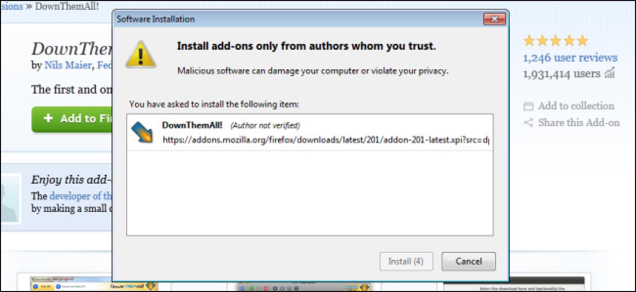 Nola aldatu gehigarrien luzera Firefoxen instalatu atzerako kontaketa