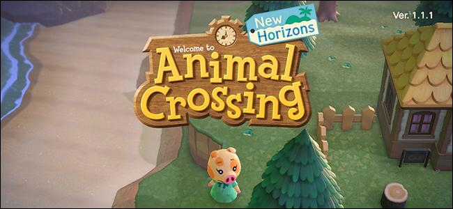 Animal Crossing New Horizons abiarazteko menua