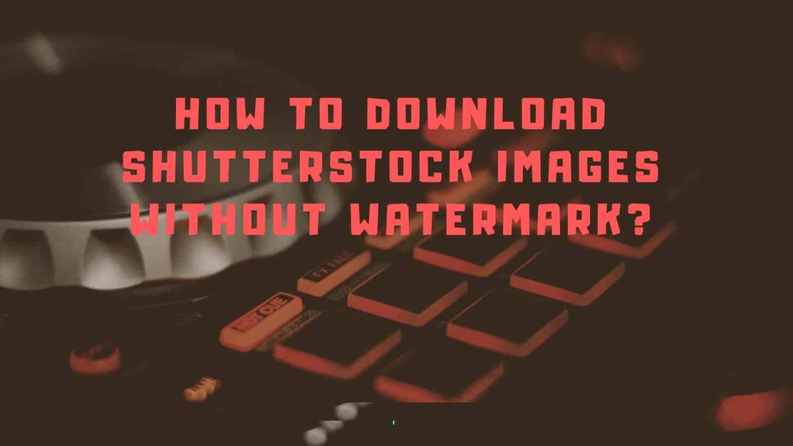 Nola deskargatu doako irteerarik gabeko Shutterstock argazkiak?  |  eguneratua
