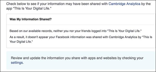Nola egiaztatu Cambridge Analyticsic-ek zurea Facebook info 1