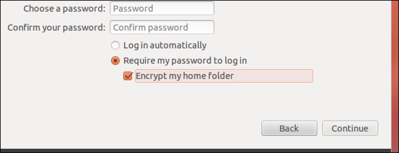 Nola enkriptatu zure etxeko karpeta Ubuntu instalatu ondoren