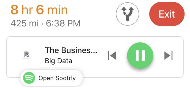 Nola erabili Google Maps musika kontrolak Spotify-era, Apple Musika edo Google Play Music 1