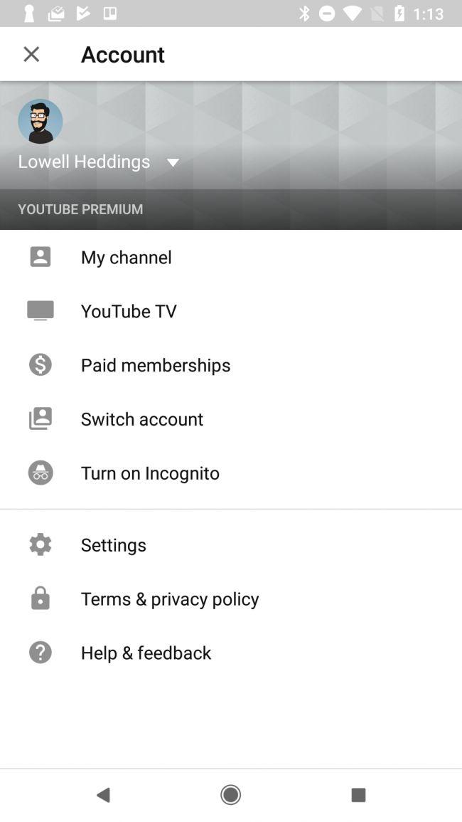 Nola erabili YouTubeInkognito modu berria zure erlojuaren historia ezkutatzeko 2
