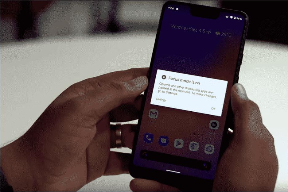 Nola erabili fokatze modu berria Android 10-en