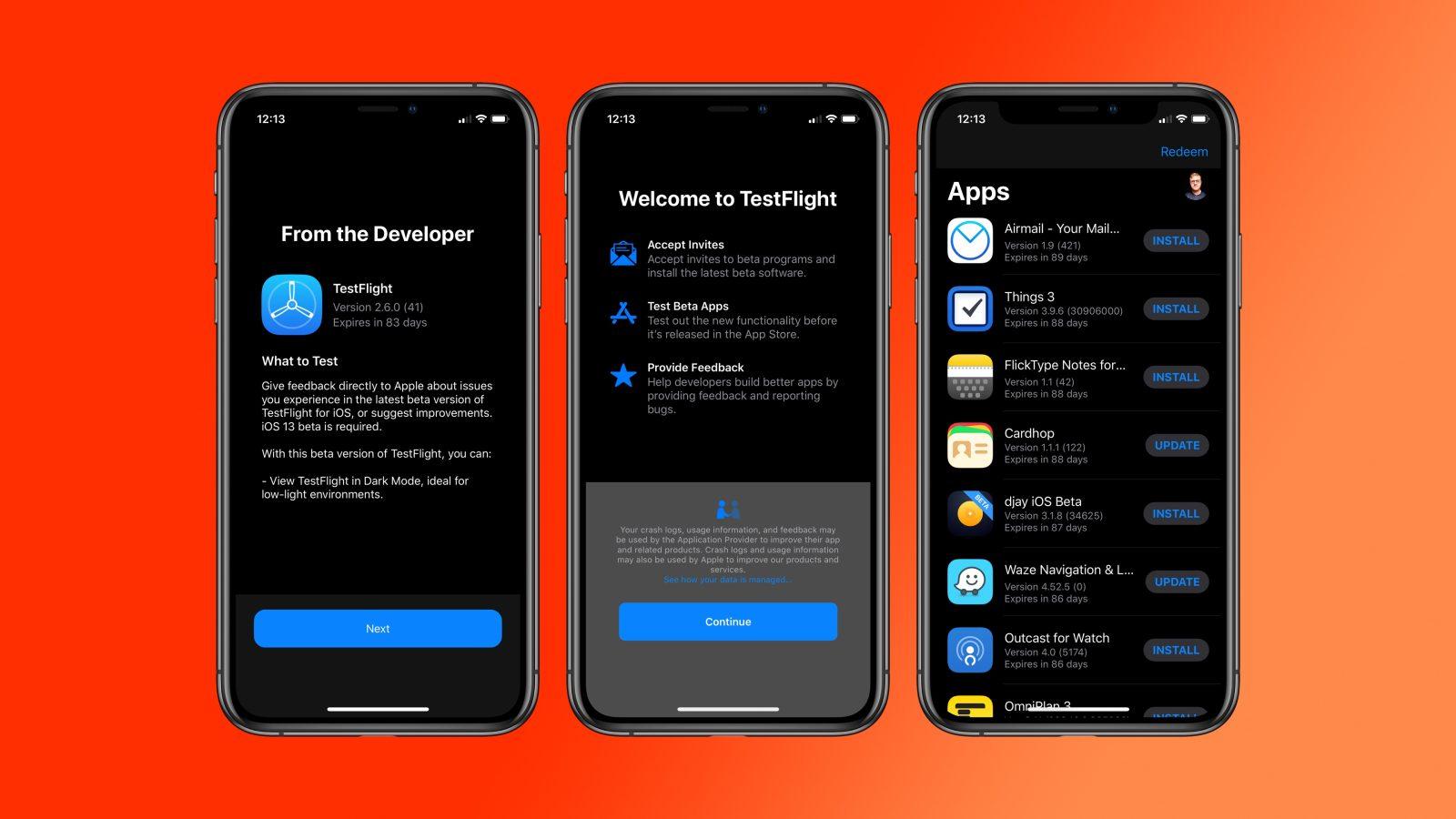 iOS uygulamaları Beta