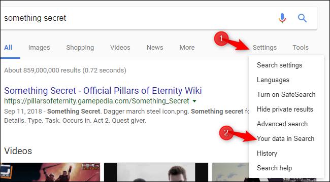 Nola garbitu Google Bilaketaren Historia modu errazean 2