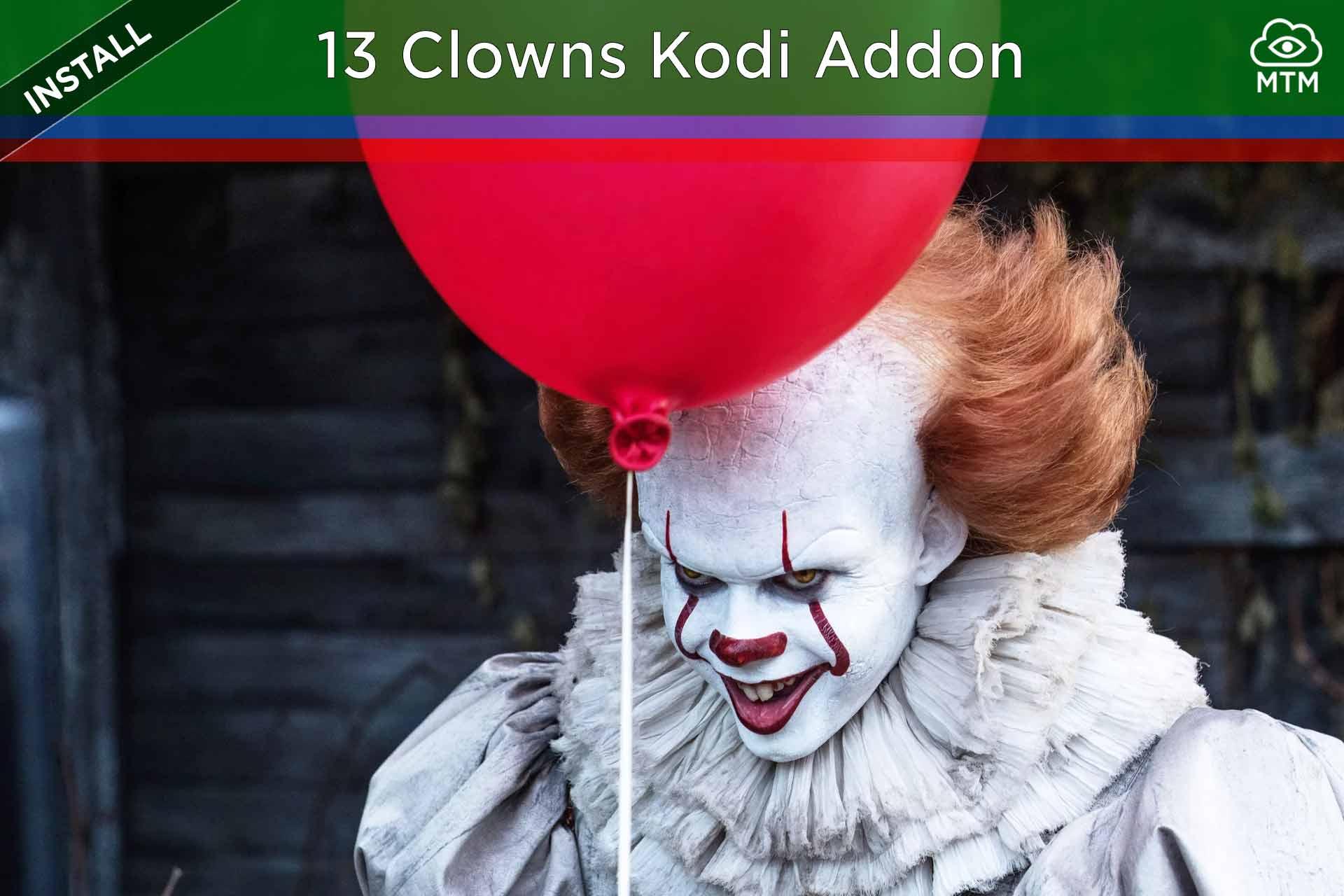 Nola instalatu 13Clowns Video Kodi Addon