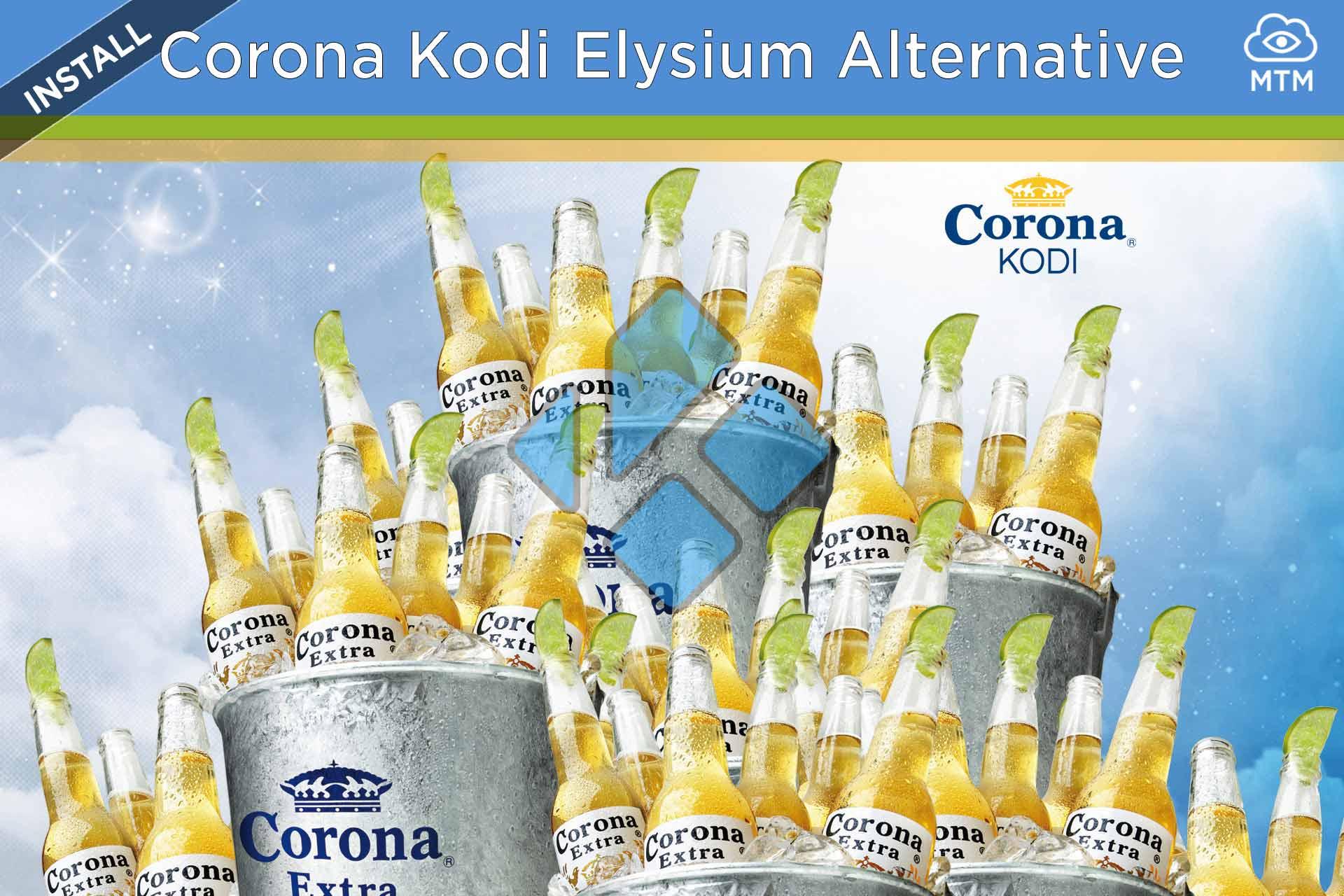 Nola instalatu Corona Kodi Elysium Alternative Addon