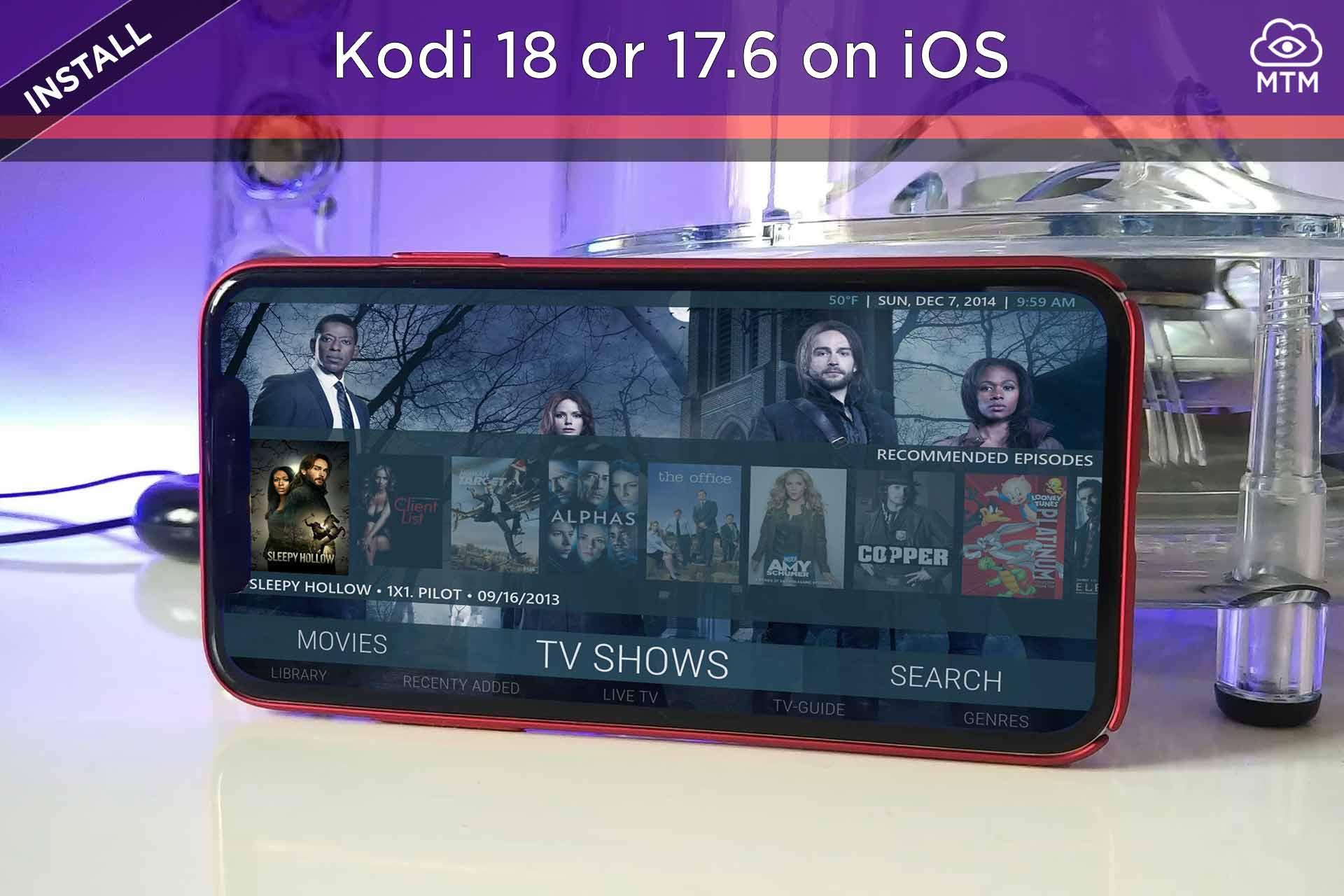 Nola instalatu Kodi iPhone, iPad eta iPod Touch-en