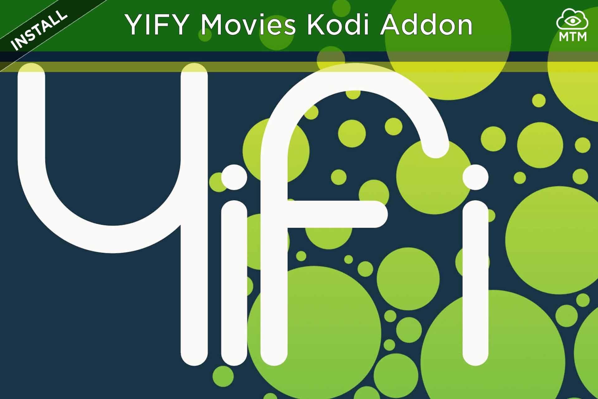 Nola instalatu YIFY TV & HD filmak Kodi Addon