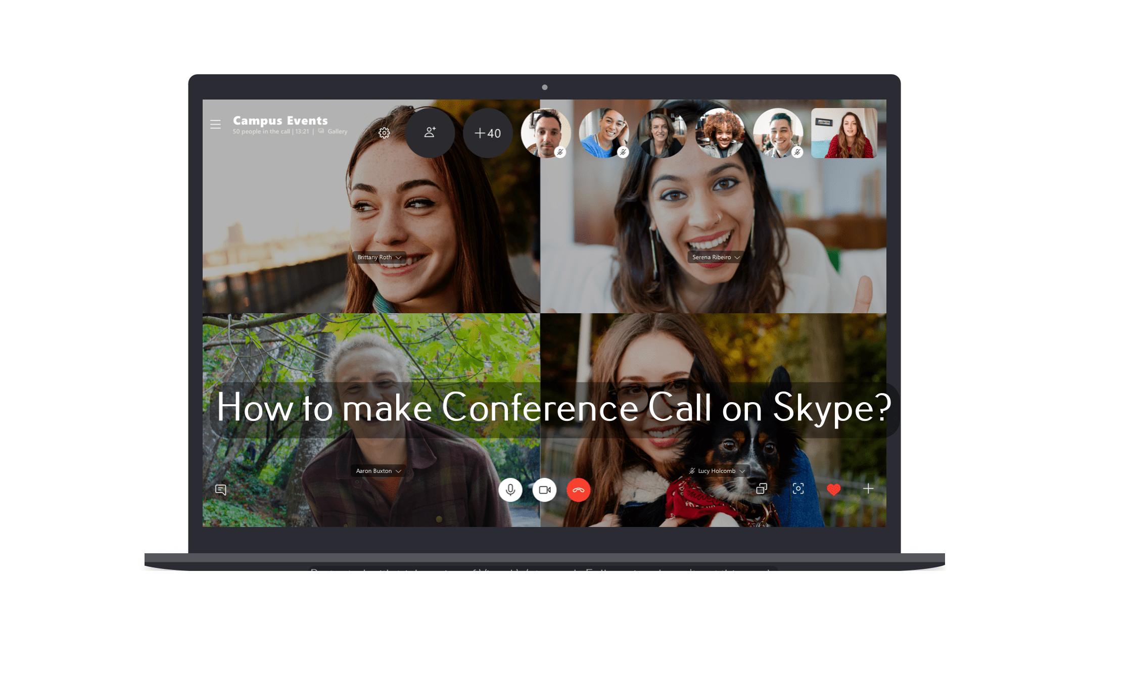 Nola konfiguratu konferentzia deia Skype (Taldearen deia)