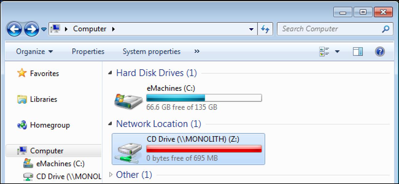 Nola partekatu CD & amp; Sarean zehar DVD Unitateak Windows