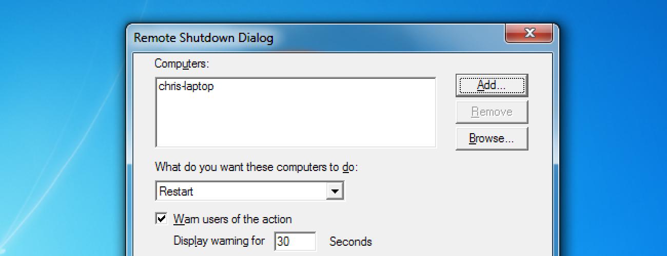 Nola urrunetik itzali edo berrabiarazi Windows PC