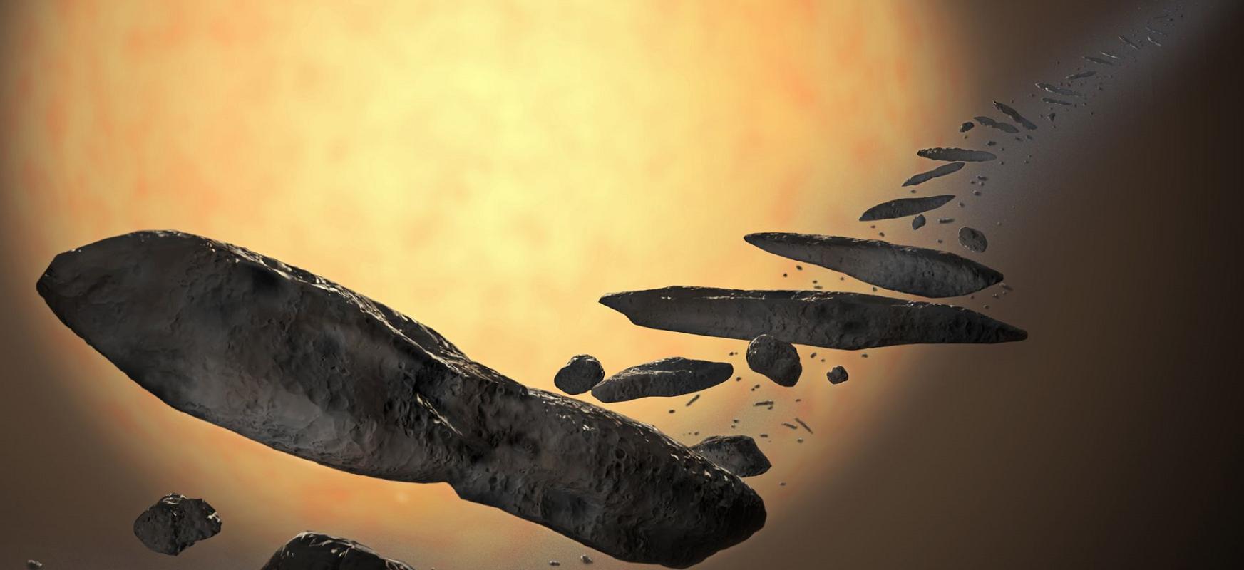 Oumuamuak iragan latza zuen.  Asteroidea bere izarrarengandik gertuegi joan da