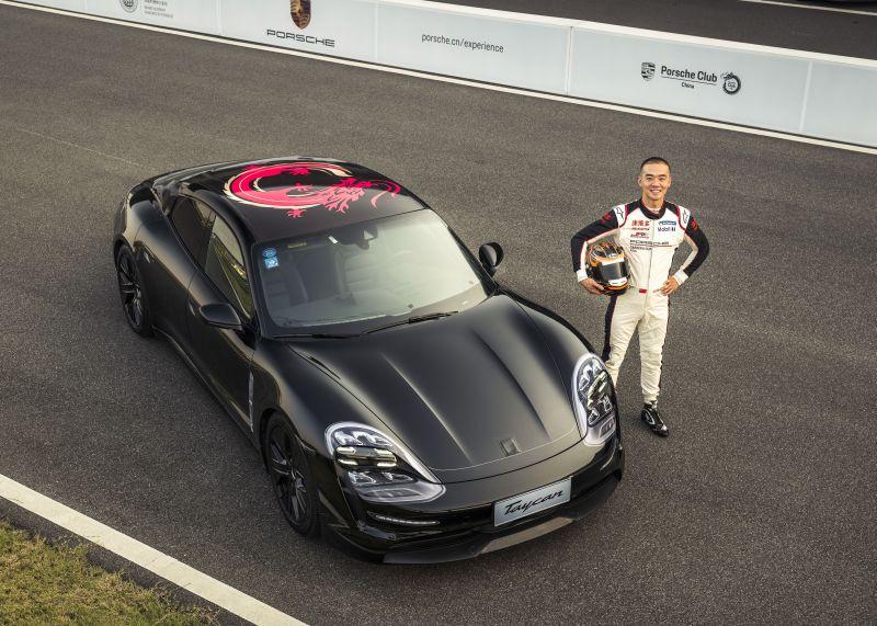 Porsche Taycanek lehen aldiz egin zuen bidea Txinan