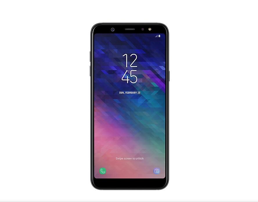 Samsung Galaxy Exekutatu hainbat aplikazio pantaila A6 Plus-en erditik zatituz