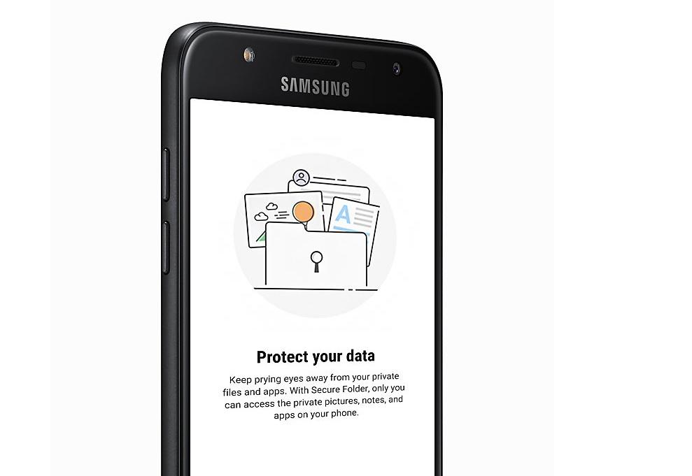 Samsung Galaxy Knox eta karpeta segurua A6 + rekin