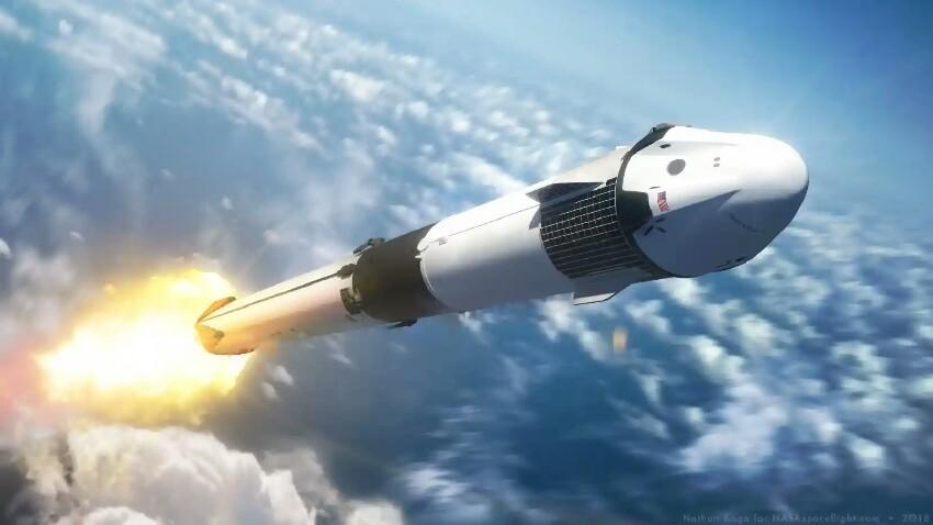 SpaceX Crew Dragon proba ondo burutu da