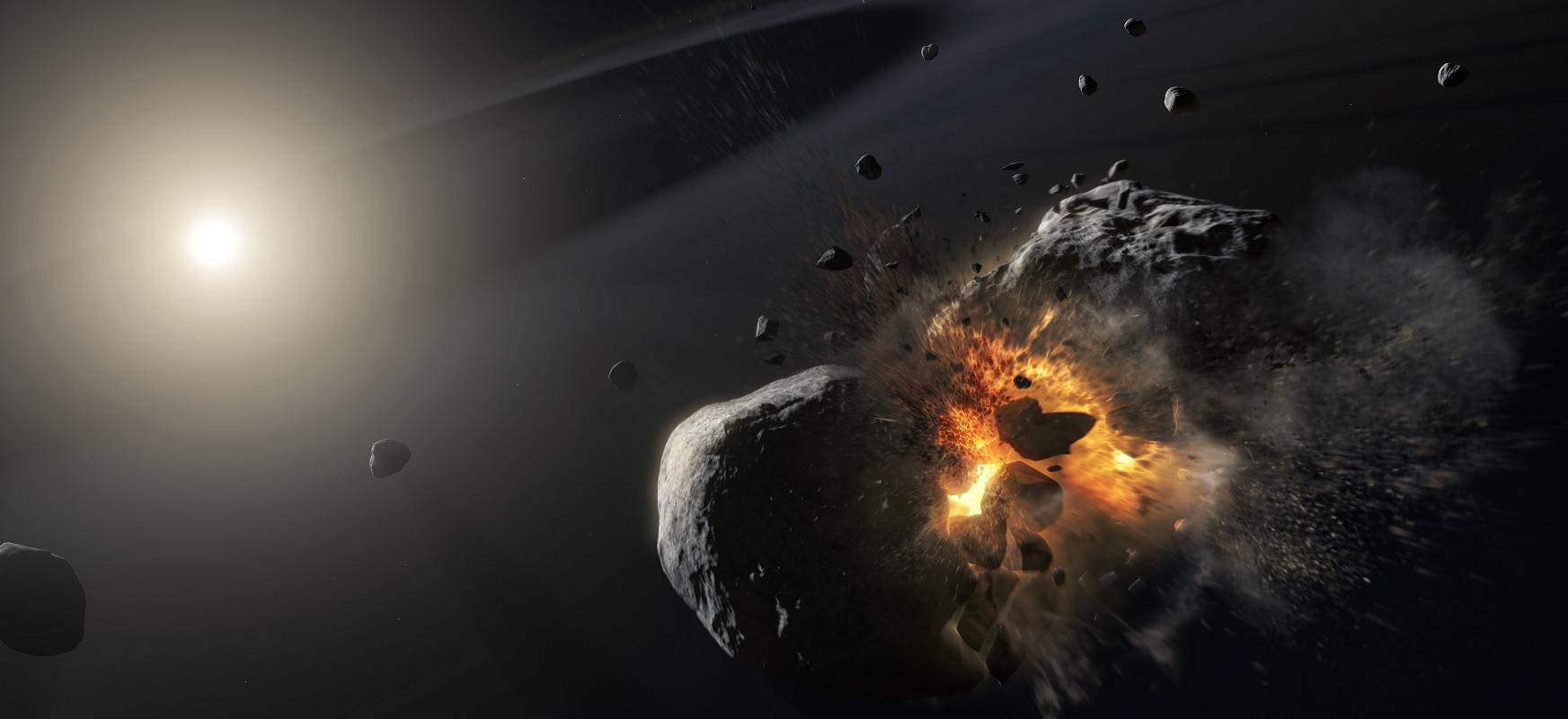 Spock eta Superman planetak eztanda egin zuten.  Orain astronomoak beste planeta bateko aztarnak aztertzen ari dira