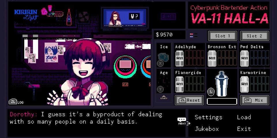 VA-11 areto-A: Cyberpunk Bartender Ekintzaren Berrikuspena