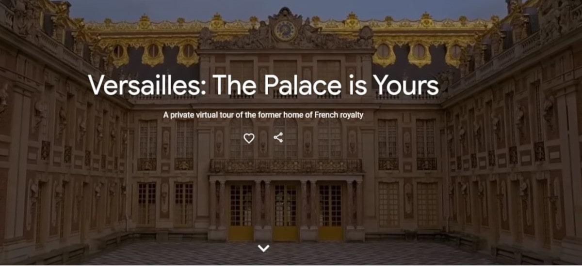 Versailles guztientzako irekia.  Google-k bira birtual batera gonbidatzen zaitu