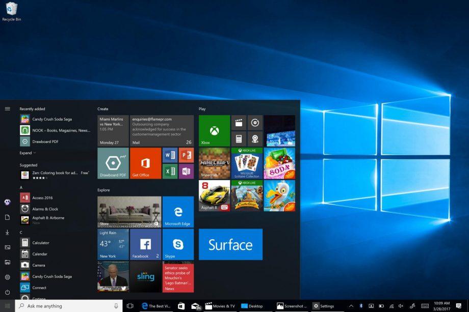 Windows 10en etsairik handiena Windows 7