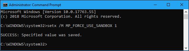 Windows Defender Orain Sandbox modu segurua eskaintzen du, hona hemen nola aktibatu 2