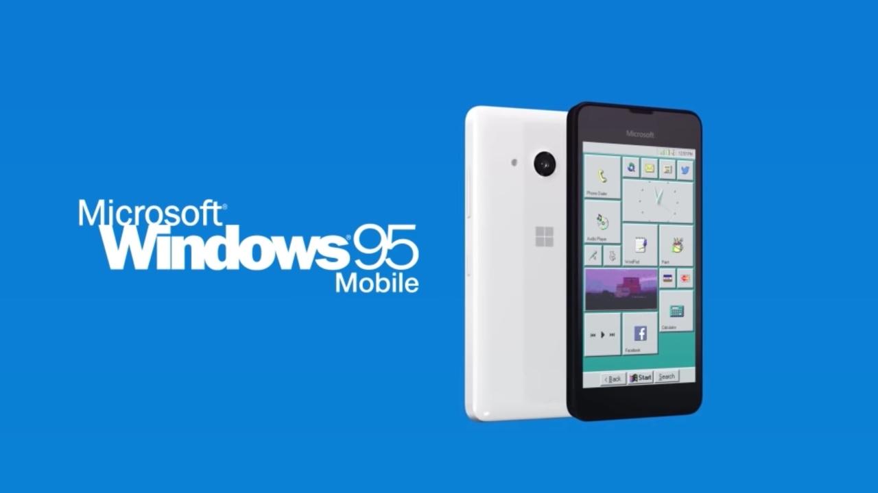 Windows Zer itxura izango luke 95 Mugikorrak?