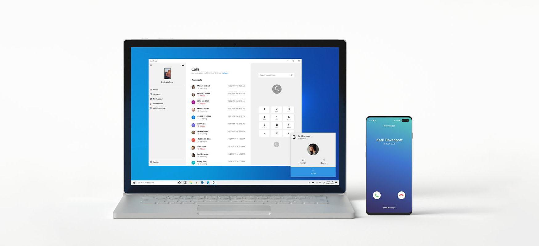 Windows integrazio sakonagoarekin Samsung telefonoekin.  Datuak kopiatzea errazagoa izango da