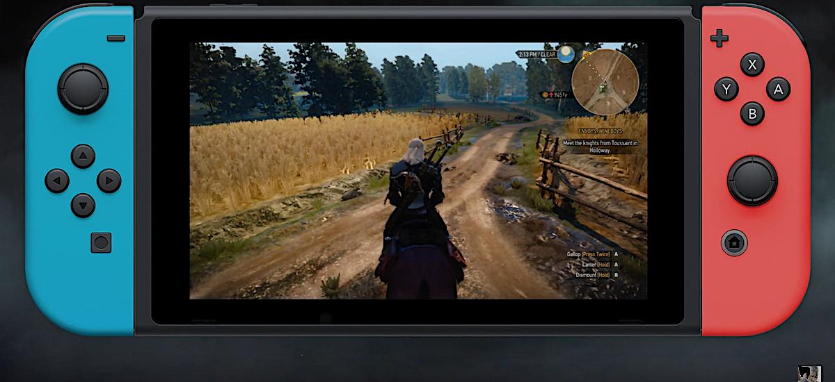 Witcher 3 buruzko Nintendo Switch no bullshit - trailerrak eta jokatzeak joko bikain bat erakusten dute pantaila txikian