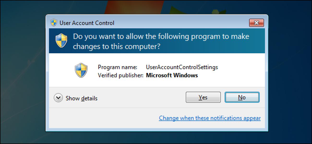 Zergatik ez zenuke Erabiltzaileen kontuen kontrola (UAC) desgaitu behar Windows